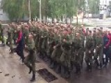 Russian Soldiers Boost Combat Spirit By Singing Military Song