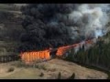 Railroad Trestle Fire Mayerthorpe Alberta Original Footage