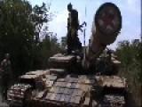 Rebels Of DPR Divisions Motorolla Captured Ukrainian Tank