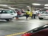 Road Rage Parking Dispute At Mall