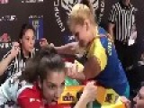 Russian Female Arm Wrestling