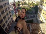 Rope Swing Off Abandoned Skyscraper