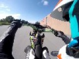Rider Loses Control Of Motorbike