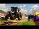 Russian Flying Tractor Racing 2016 - Offroad Race - Bison Track Show - Russia