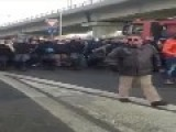 Riot Police Remove Their Helmets In Solidarity With Italian Protesters