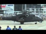 Russian Flying Tank Helicopter Takeoff