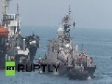Russia: Ukrainian Missile Boat Pryluky Towed Away From Crimea