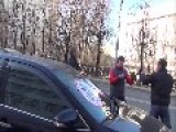 Russian Activists STOPHAM Against Parking On The Lane