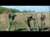 Russian Invaders Firing Mortars In Luhansk Oblast 01.09.14