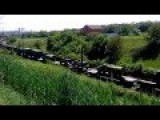 Russian Tanks, APCs And Other Military Equipment Is Shipped Toward Ukraine