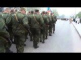 Rebel Forces In Eastern Ukraine Drill For Victory Day Parade