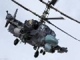 Russian Military Helicopters Mi 35 And Ка 52 Out On Patrol