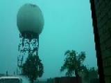 Radio Tower Gets Struck By Lightning