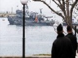 Russian Warships Block Channel Off Crimea