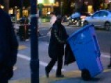 Racist African-american Man Yells White Lying' Motherfucker At Crowd In San Francisco While Pushing His Stolen Recycling Bin