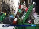 Rubbish Lines Streets In Paris As Refuse Collectors Strike Enters Fourth Day