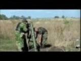 Russian Invaders Firing Mortars In Luhansk Oblast