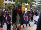 Rev Billy And The Church Of Stop Shoppping Lead March On World Bank