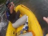 Rafters Get Stuck In Rapids