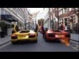 REV BATTLE Lamborghini AVENTADORS In STREETS Of London!!