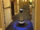 Robot Delivers Snack To Hotel Guest