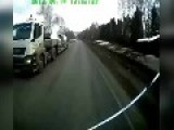 Runaway Truck Dodging Traffic In Russia