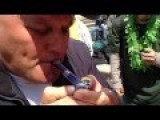 Shoenice Smokes Weed With Magnifying Glass
