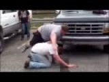STREET FIGHT: Little Man Gets Beaten By A Big Guy
