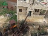 Syrian Sunni Arab Citizen Soldiers Put A 'hell Cannon 3' Round Into An Assadist Occupation Outpost