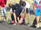 Spain - Scary Fall In Spain Vuelta 2014 02 09