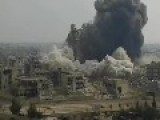 Syrian Arab Army Blew Up A Large Portion Of The Teacher's Tower Highest Building In Jobar