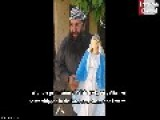 Syrian Wahhabi Cleric Omar Gharba Breaks The Statue Of Virgin Mary