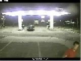 SUV Plows Into Gas Station