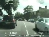 Stolen Mercedes Car Smashes Through Train Barrier, Cambridgeshire Police UK Onboard Camera Action
