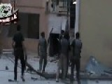 Syria Rebels Capture Assad Positions At Harasta Water Corportation HQ 5-21-13 Damascus Suburbs