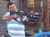 Salvadoran Immigrants Firing AR-15 Rifle In Their Boston, Massachussetts Backyard