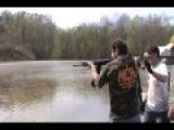 Shooting Full Auto Saiga 12 Shotgun