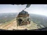 Super Epic Humvee Airdrops From C-17 Globemaster Plane During Massive Airborne Operation + Heavy Artillery & Machine Gun Firing