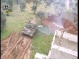 Syrian Sunni Sunni Arab Citizen Soldiers Use Two Recently Captured T-55MV's To Fire On Assad Crime Dynasty Positions: Mount Forty