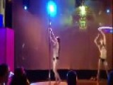 Stripper Eats It Hard When Pole Snaps Into Two During Dance Routine
