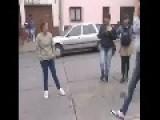 Street Fight Between Two Girls