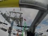 Skiers Fail Getting Off Ski Lift