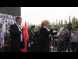 Slavyansk Victory Day 2014 Speeches By Lenin Statue