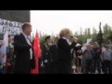 Slavyansk Victory Day 2014 Speeches By Lenin Statue