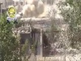 Syrian Sunni Arab Freedom Fighters Knock Out One Of Genocidal Dictator Assad's T-72M's: Zamalka Aug 26th, '13
