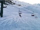 Snowboarded Tries To Impress Mom