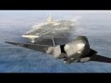 Super Advanced F-35 Lightning II Stealth Fighter Plane In Action Over The Pacific
