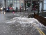Street In UK Underwater