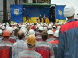 So Called Parashenko Meeting With Workers In Mariupol
