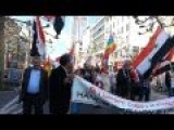 Syria - Frankfurt, Germany Supporting March For Assad - Traditional Eastern Peace Demontration